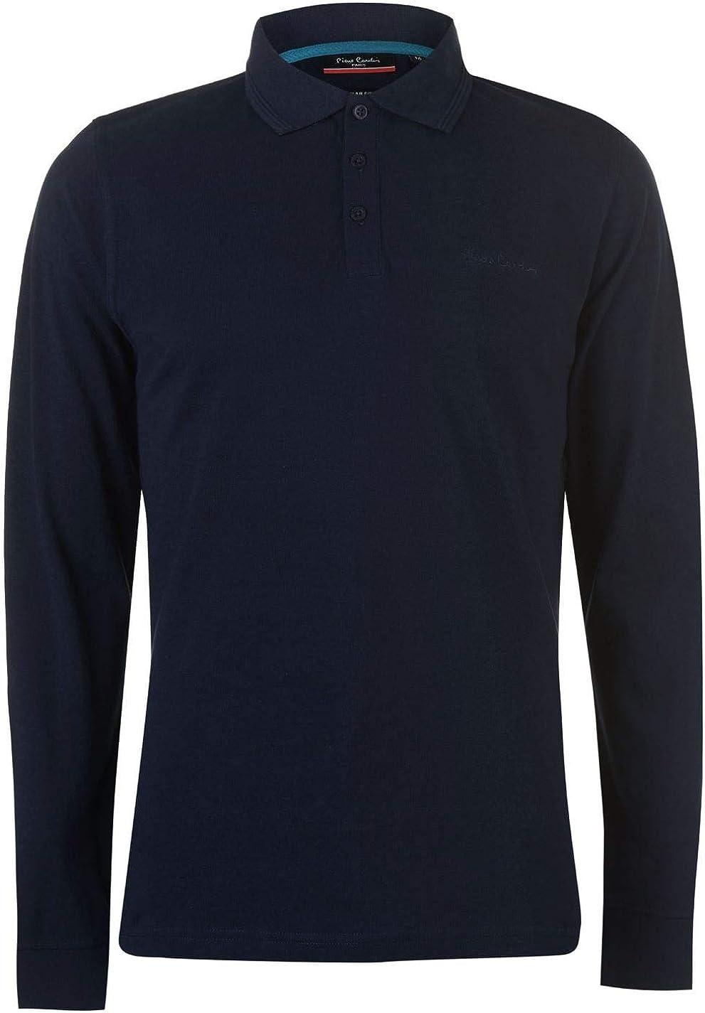 Pierre Cardin Mens Plain Polo Shirt Short Sleeve
