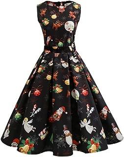 Alljoin Women's Vintage Christmas Dress Xmas Rockabilly Cocktail Party Dress