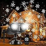 ALOVECO Christmas Snowflake Projector Lights, Rotating LED Snowfall Projection Lamp with...