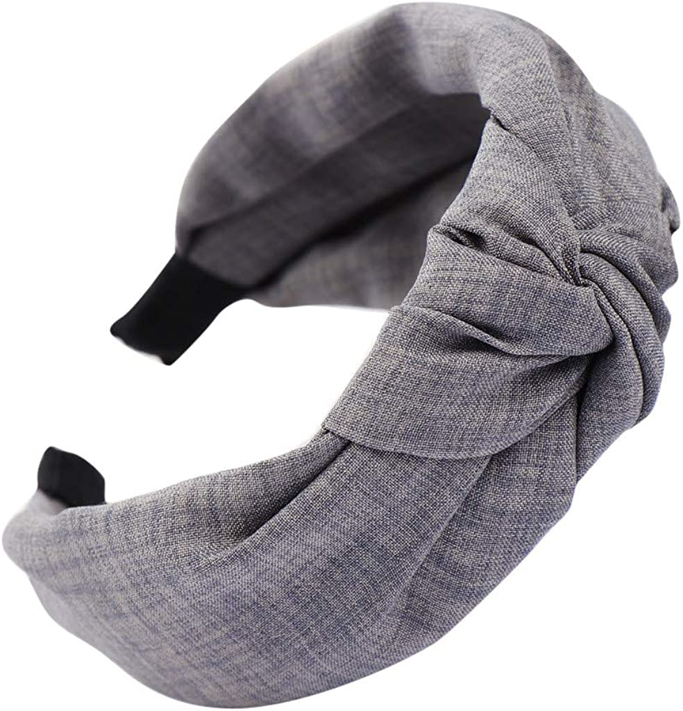Sayhi Wide-Brimmed Bow knotted Headband Hair Head Hoop Cross Knot Hairbands Hair Accessories Broadside Headbands