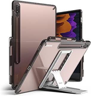 Ringke Fusion with Outstanding [Combo Pack] Transparent Back Samsung Galaxy Tab S7 plus 12.4 Inch Case with Overcharge Pro...