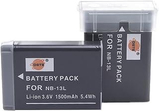 DSTE 2-Pieza Repuesto Batería para Canon NB-13L PowerShot G7X