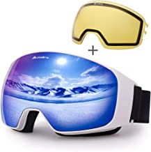 Avoalre OTG Skibril Anti Fog Ski Snowboardbril voor heren Dames 100% UV-bescherming Bril met verwisselbare sferische gespi...