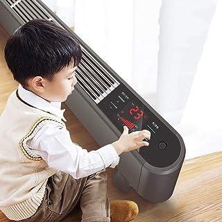 WI Calentador de panel de convección Zócalo eléctrico Calentador de convección para el hogar, radiador de placa base Slimline con temporizador inteligente antihielo 24H, 2200W