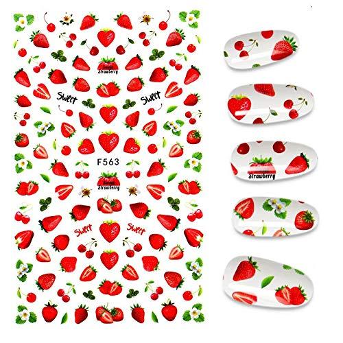 BLOUR La Nueva Pegatina 3D para uñas, Pegatinas geniales con Letras en inglés paralámina deuñas,diseño de corazón de Amor,Pegatinas de manicura a la Moda