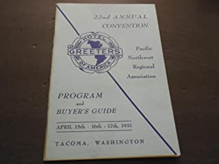 22nd Annual Hotel Greeter of America NW Tacoma Washington 1961