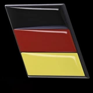 3D Emblem Aufkleber Flagge Deutschland Germany schwarz rot gold EM WM L126