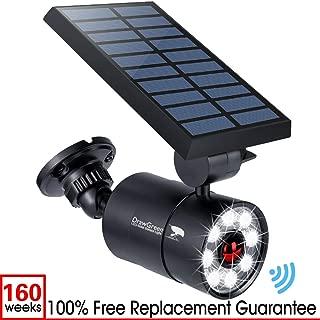 Solar Motion Sensor Light Outdoor Aluminum,1400 Lumens 9-Watt(130W Equi.) LED Spotlight, 2-Mode Solar Security Lights for Garden Driveway Patio, 3-Year Battery Life, 160-Week 100% Replacement Guarante