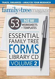 Essential Family Tree Forms Library CD, Volume 2