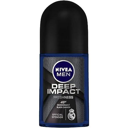 NIVEA Men Deodorant Roll On, Deep Impact Freshness, 48 h Anti Perspirant Freshness, 50 ml