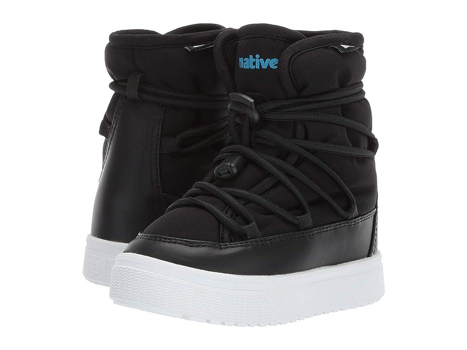 Native Kids Shoes Chamonix (Toddler/Little Kid) (Jiffy Black/Shell White) Kids Shoes
