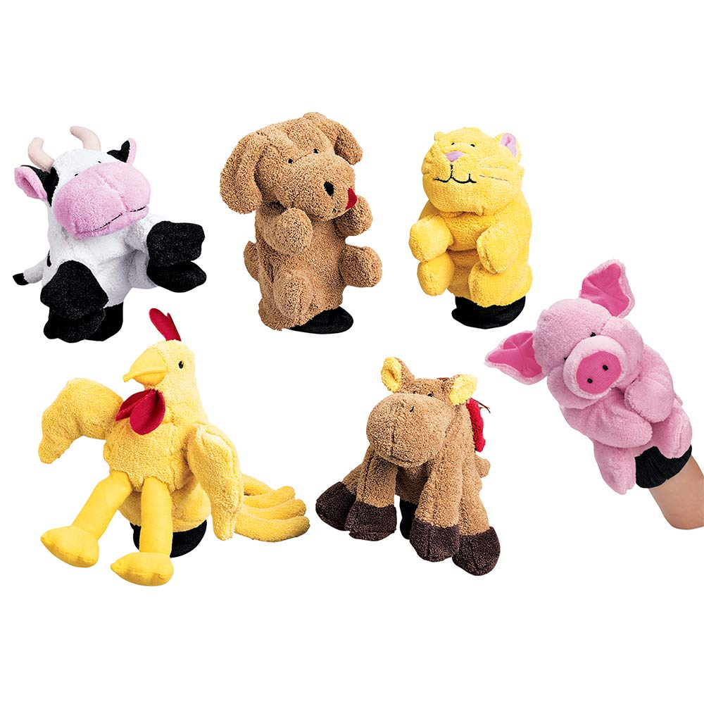 Constructive Playthings Plush Farm In stock Animal Glove 6 Pc. Puppets free