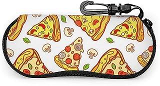 Wthesunshin Funda Gafas Pizza de dibujos animados Neopreno Estuche Ligero con Cremallera Suave Gafas Almacenaje
