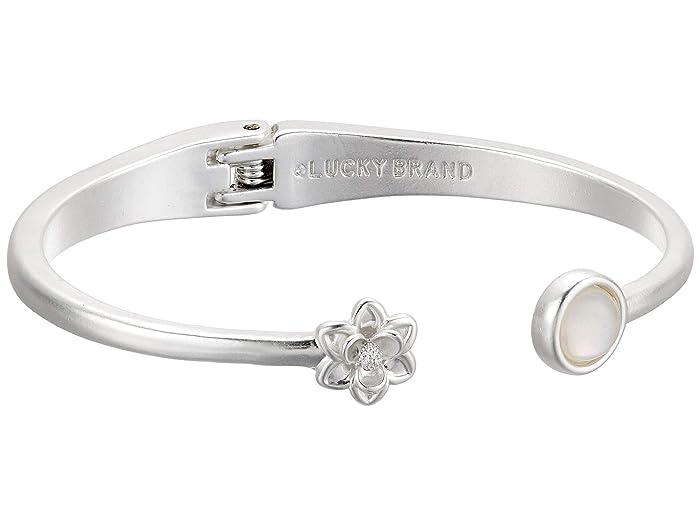 Lucky Brand  Stone Cuff Bracelet (Silver) Bracelet