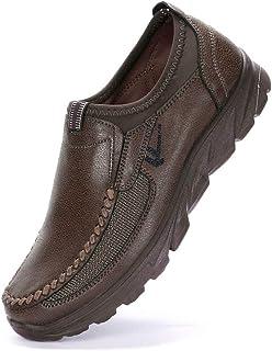 Alaso Mocassins Homme Été Loafers Cuir Mode Respirant Chaussures de Conduite Chaussures Bateau Plat Flâneurs Chaussures Dé...