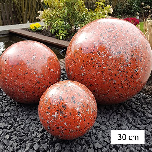 garten-wohnambiente Dekorationskugeln MARMOR rot, D 30 cm - (DK 100 095)