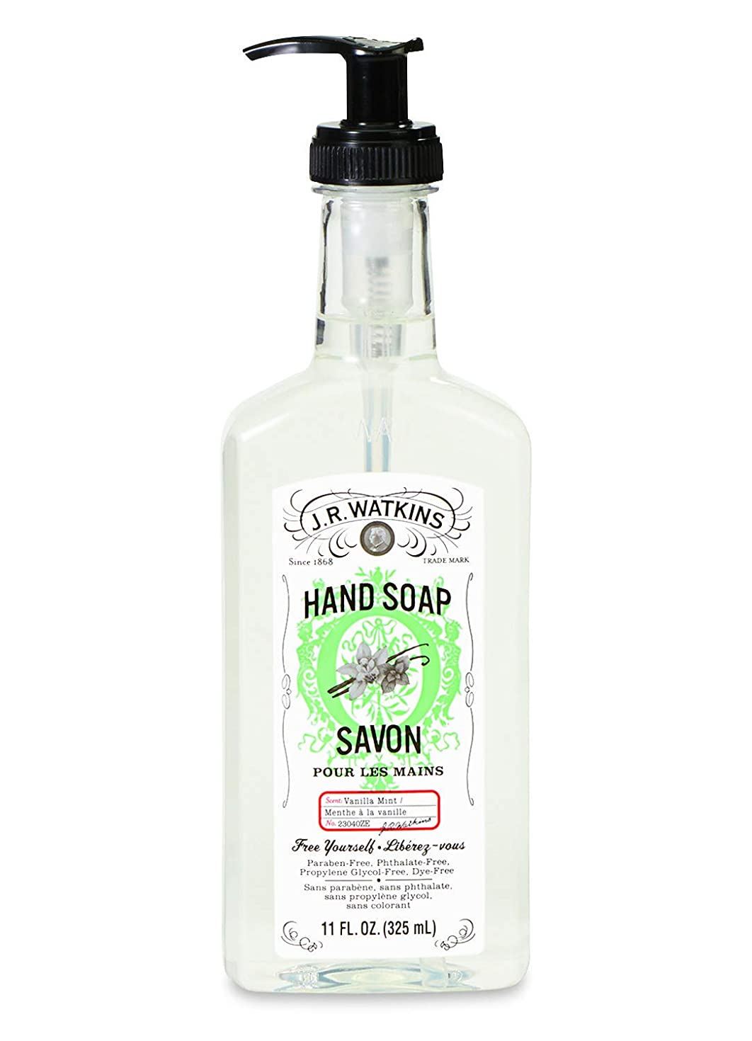低下密輸そのようなJ.R.Watkins/ハンドソープ バニラミント 325ml リラックス 石鹸 植物由来 保湿 甘い香り