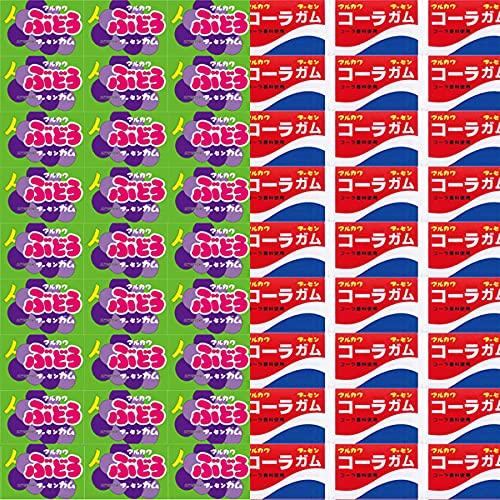 マルカワ ぶどうフーセンガム(60コ)& コーラフーセンガム(60コ)計120コ(当たり付き)セット おかしのマーチ (omtmb7484)