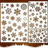 Mocoosy Weihnachten Schneeflocke Schablone Vorlage -Schneeflocke Schablonen zum Malen auf Holz Wiederverwendbare Schablonen Handwerk Weihnachten Schneeflocke DIY Dekoration für Fenster Glaswandtür