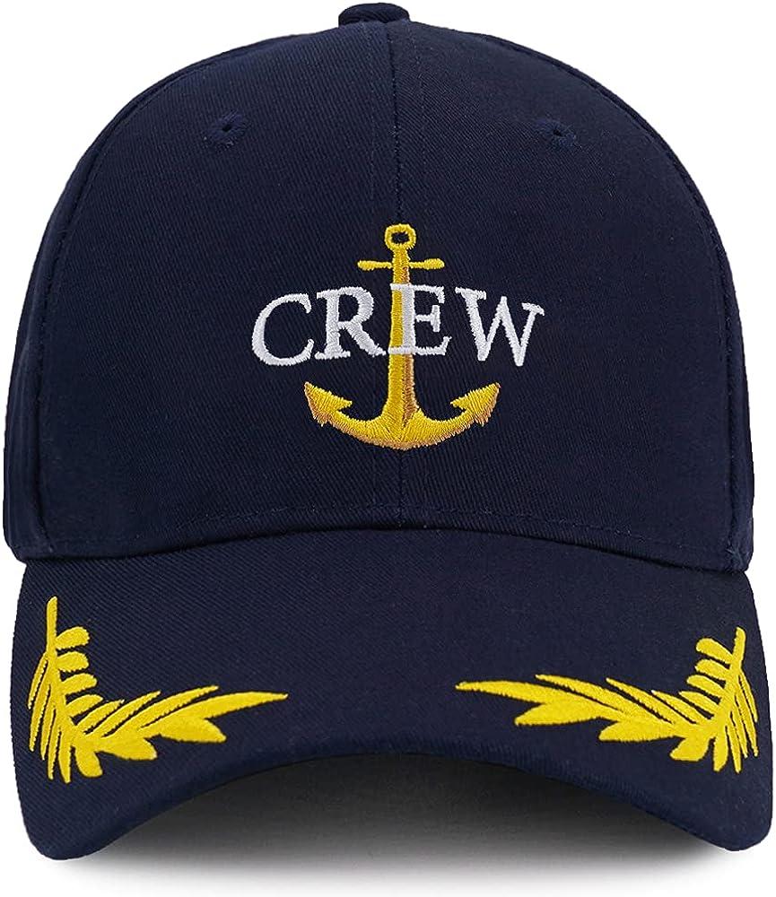 Captain Hat & First Mate   Matching Skipper Boating Baseball Caps   Nautical Navy Marine Sailor Hats
