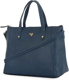 Baggit Women's Synthetic Tote Bag (Blue) (L Citrus)
