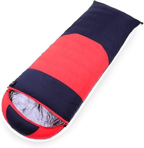 BFMEI Hiver Adulte Unique Chaud épais Randonnée Pédestre Camping Pause Déjeuner en Plein Air Sacs De Couchage,210  80cm-rouge(withCashmere1200Grams)