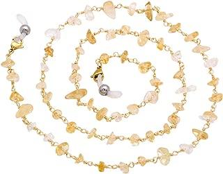 KAI Top Eyeglass Chain Stone Bead Reading Glass Chain Sunglass Neck Strap Holder