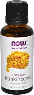 NOW Essential Oils, Frankincense Oil, Centering Aromatherapy Scent, Steam Distilled, 100% Pure, Vegan, 1-Ounce