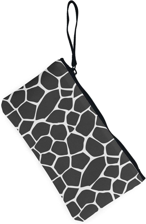 AORRUAM Giraffe fur Canvas Coin Purse,Canvas Zipper Pencil Cases,Canvas Change Purse Pouch Mini Wallet Coin Bag