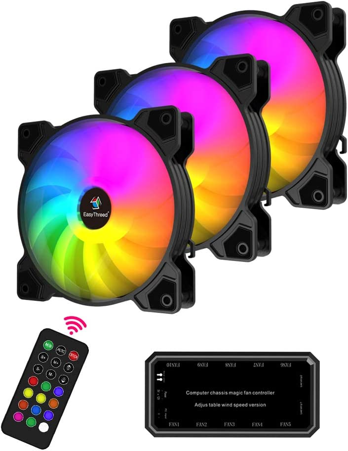 Easythreed Discount is Max 86% OFF also underway 120mm PC Cooling Fan RGB Fans Computer Quiet Hig Case