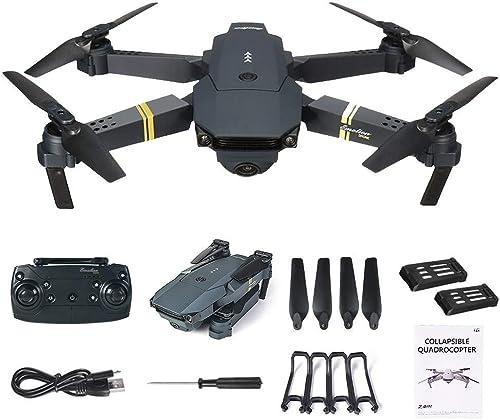 MMLC E58 2MP 720P Weißwinkel Kamera WiFi FPV Live Video Mobile App Steuerung Faltbare Drohne Selfie Pocket RC Quadcopter Hubschrauber RTF + 1 Kabel & 3 oder 2 Batterien (2 x Battery)