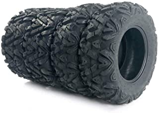 PARTS-DIYER 4 PCS All Terrain ATV UTV Tires 25x8-12 Front & 25x10-12 Rear Tubeless 6PR