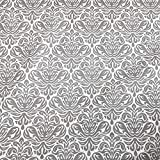 Stoff Meterware Baumwolle grau weiß Trulli Ornament