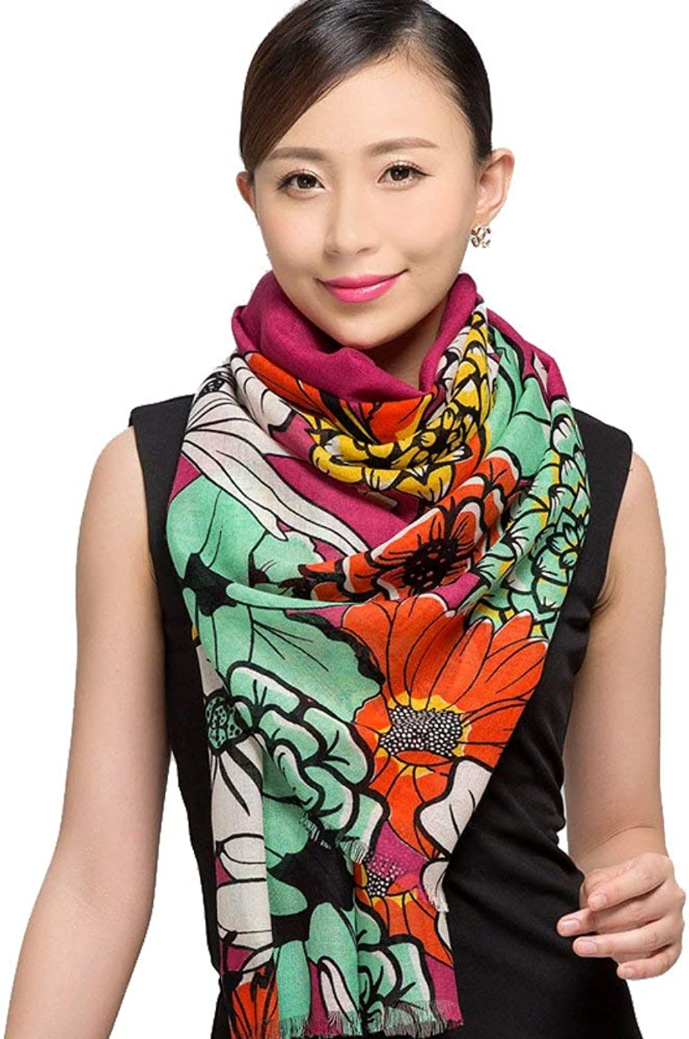 Paioup Scarf Ladies warm winter air conditioning shawl