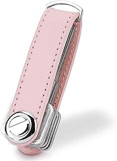 Bosiwee Smart Key Organizer, Compact Key Holder Leather Keychain, Folding Pocket Key Holder Chain (up to 16 Keys)