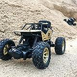 TwoCC RC Car 1/18 2.4Ghz 4Wd Pequeña Aleación de Escalada de Automóviles Coche de Juguete A Control Remoto Transfronterizo Radio Todoterreno Montado En Buggy ATV Car RC Toy Regalos para Niños