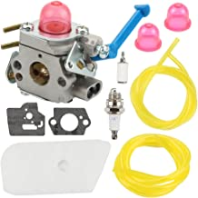 Hilom C1Q-W40A Carburetor Carb with Air Fuel Filter for Husqvarna 124L 125L 125LD 125R 125RJ 128C 128CD 128L 128LD 128LDX 128R 128RJ 128DJX 545081850 545081848 Trimmer Weed Eater