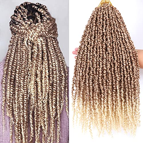 8 Packs 20 Inches Tiana Passion Twist Hair Crochet Braids Prelooped Passion Twist Crochet Braiding Hair Synthetic Fiber Water Wave Goddess Locs Long Bohemian Style (20 Inch, 27/613#)