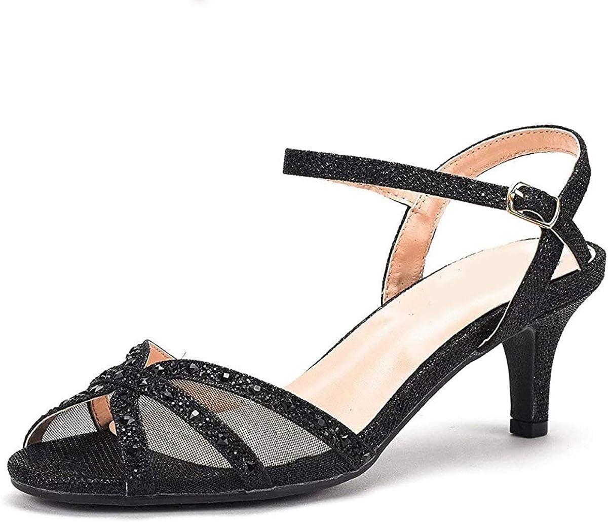Fashion Thirsty Womens Low Large discharge sale Mid Shoes Wedding Diamante Glit San Antonio Mall Heels