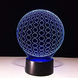 Novela Golf Modelo Ilusión óptica Lámpara Led 3D Lámpara Luz de noche Acrílico Atmósfera Lámpara 7 Color Lámpara moderna