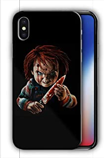 Hard Case Cover with Curse of Chucky Design Compatible with iPhone XR (hall13)