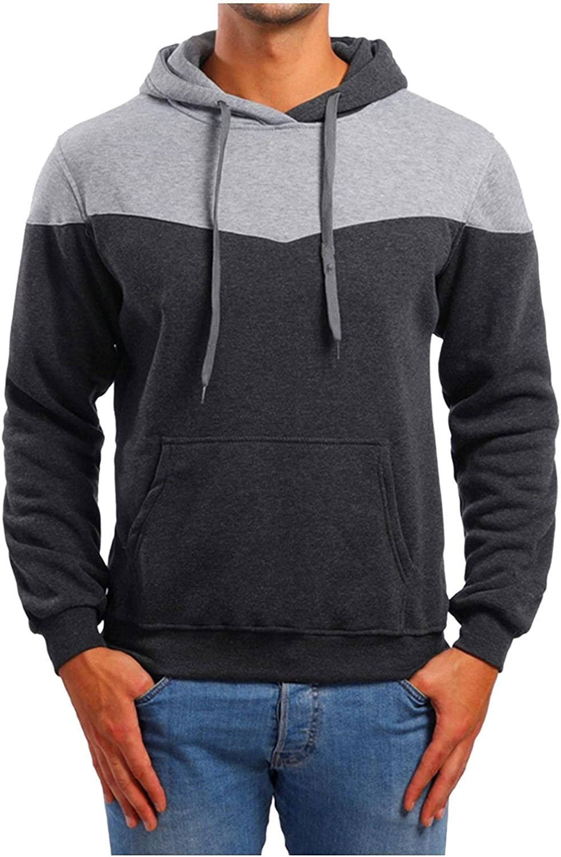 Sweatshirts for Men,Casual Color Block Quarter Zip Pullover Men Unique Design Long Sleeve Novelty Hoodies Pullover