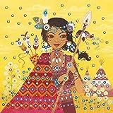 Kit de loisir créatif enfant - 5 tableaux sequins - Princesses du monde - DIY - Stick & Fun - Dès 7 ans - Sycomore - CRE7015