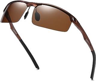 15feea529a3 Duco Men s Sports Style Polarized Sunglasses Driver Glasses 8550 Brown