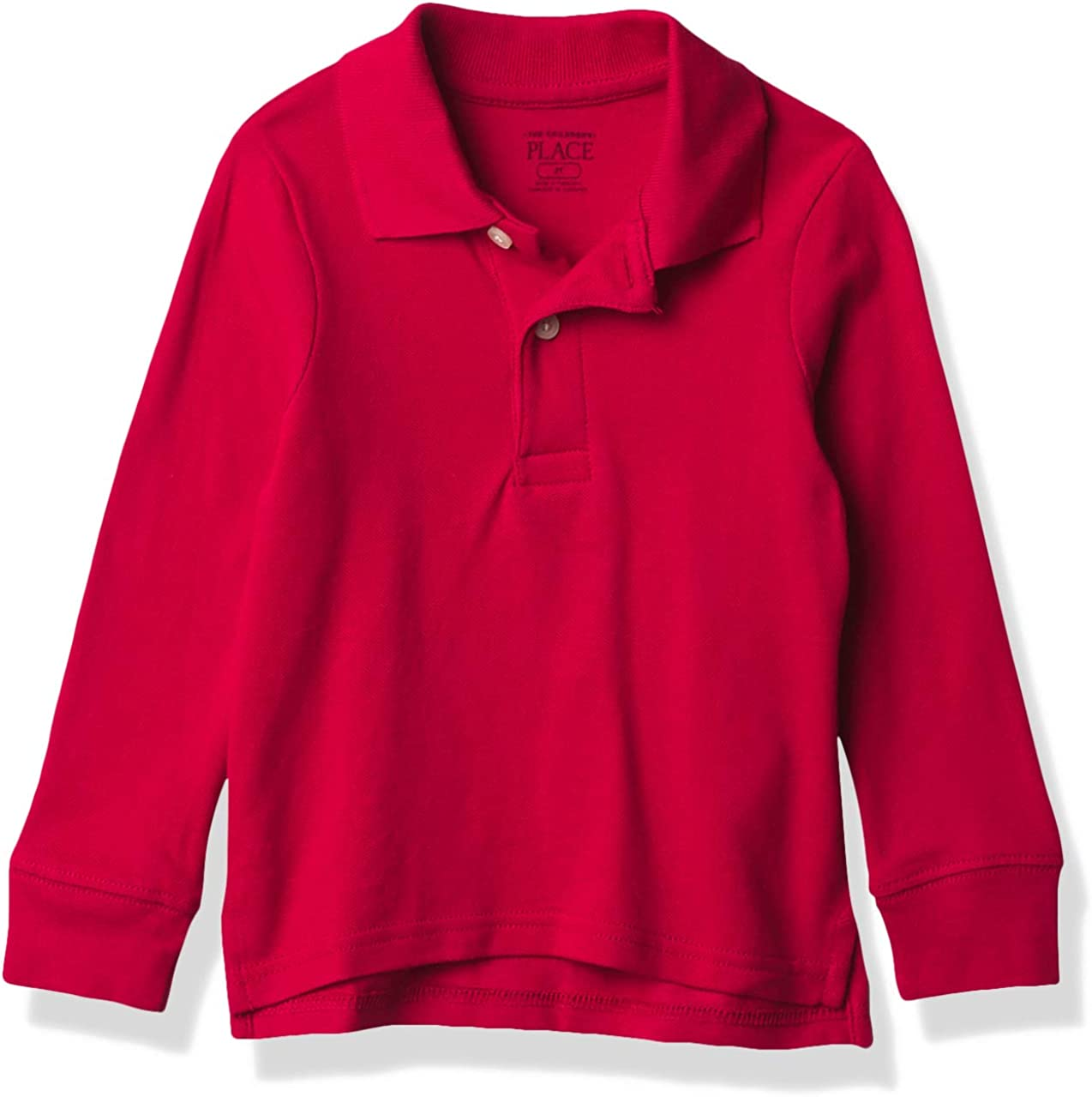 The Children's Place Boys' Baby and Toddler Uniform Long Sleeve Pique Polo