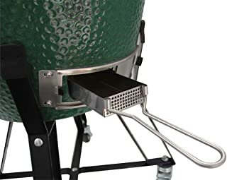 WANRAY Slid Out Ash Drawer Removable Ash Catcher Large Big Green Egg Accessories Grill Kamado Ceramics Ash Tool Easy to Clean BGE Smoker Accessories (Fit for L BGE)