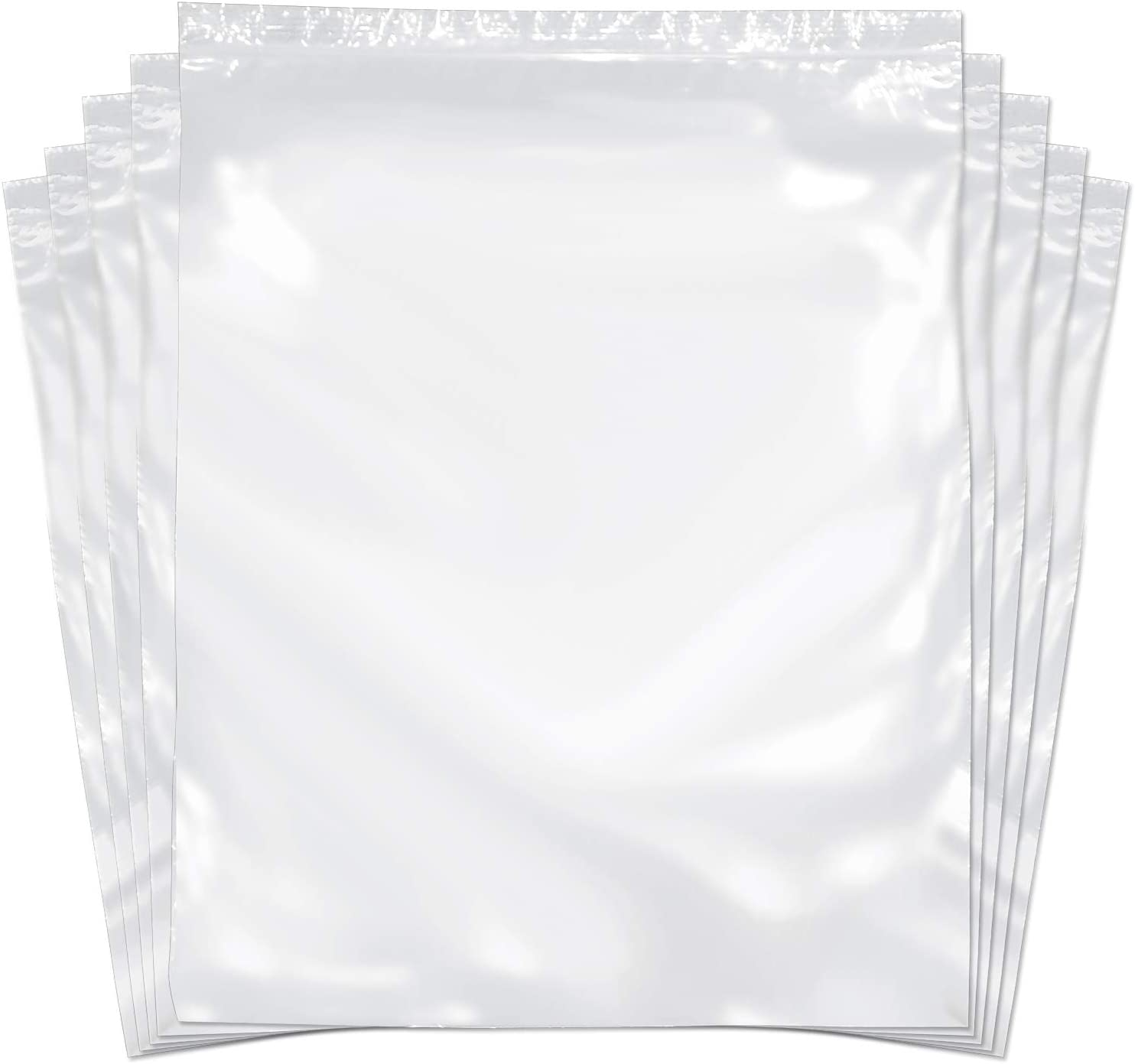 Strong 100 Bags SNL Quality Zip Lock Reclosable Clear Disposable Plastic Bags 9 X 12-2 MIL