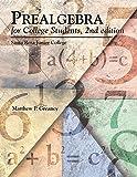 Prealgebra for College Students, 2nd Edition Santa Rosa Junior College