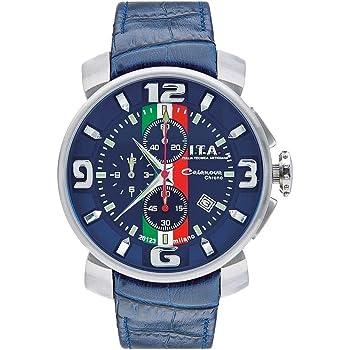 I.T.A.(アイ・ティー・エー) Casanova chrono Tricolore(カサノバ・クロノ トリコローレ)/日本限定モデル/クォーツ/ブルー Ref.12.70.23 腕時計[正規輸入品]