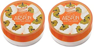 Coty Airspun Loose Face Powder, Naturally Neutral, for Setting Makeup or as Foundation, Lightweight, Long Lasting, Pack of 2